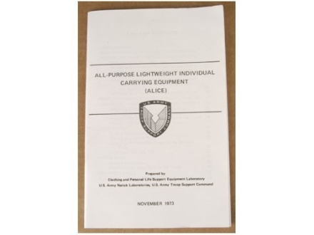 """All Purpose Lightweight Individual Carrying Equipment"" Military Manual by Department of the Army"