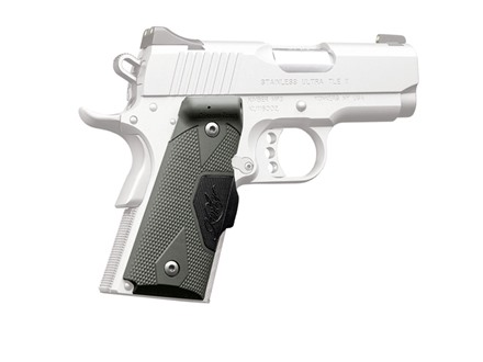 Crimson Trace Lasergrips 1911 Officer Front Activation Polymer Tactical Gray with Kimber Logo