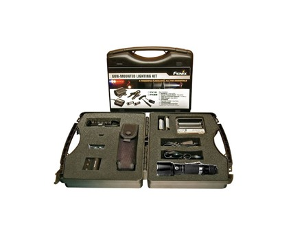 Fenix TK15 Complete Gun Kit LED with 2 18650 Rechargeable Batteries Aluminum Black