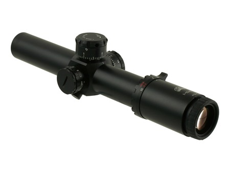 Valdada IOR Eliminator Rifle Scope 35mm Tube 1-10x 26mm Zero Stop Side Focus 1/10 Mil Adjustments Illuminated MP-8 Xtreme Reticle  Matte with Med. Picatinny Style Rings