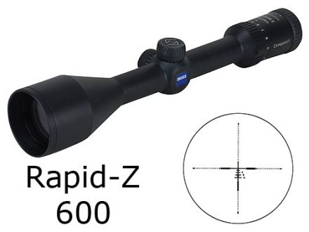Zeiss MC Conquest Rifle Scope 3-9x 50mm Rapid Z 600 Reticle Matte