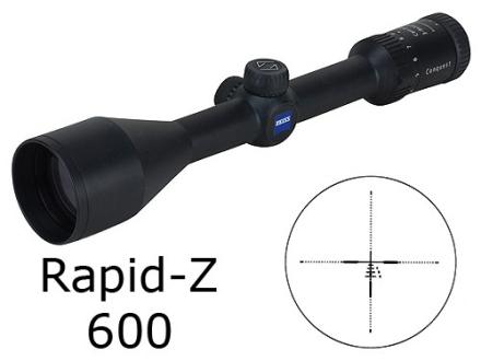 Zeiss MC Conquest Rifle Scope 3-9x 50mm Rapid Z 600 Reticle Matte