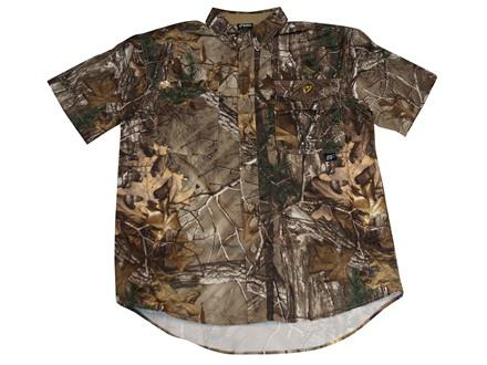 ScentBlocker Men's Recon Lifestyle Shirt Short Sleeve Polyester Realtree Xtra Camo Large 42-44