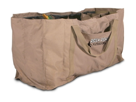 Rig'Em Right 12 Slot Full Body Duck Decoy Bag Nylon Tan and Black