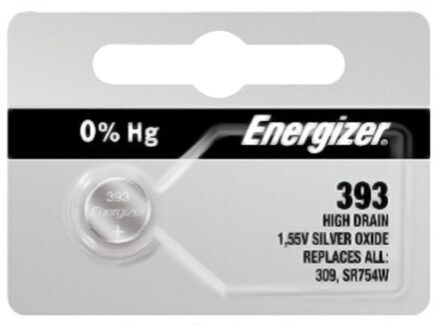 Energizer Battery 393 Silver Oxide