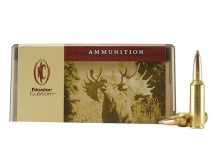 Nosler Custom Ammunition 300 Remington Short Action Ultra Magnum 200 Grain Partition Spitzer Box of 20