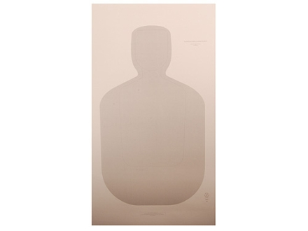 "NRA Official Training and Qualification Target Law Enforcement TQ-21 24"" x 42"" Paper Package of 100"