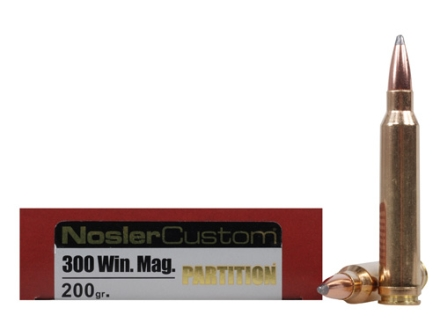 Nosler Trophy Grade Ammunition 300 Winchester Magnum 200 Grain Partition Box of 20