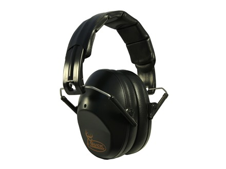 Walker's Buck Commander PRO-Low Profile Folding Earmuffs (NRR 31dB) Black