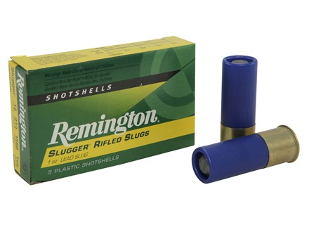 "Remington Slugger Law Enforcement Duty Ammunition 12 Gauge 2-3/4"" 1 oz Rifled Slug Box of 5"