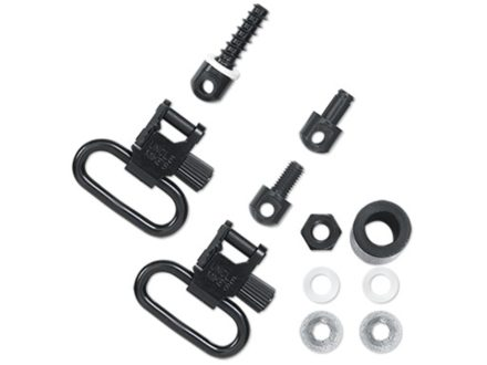 "Uncle Mike's Quick Detachable Super Sling Swivel Set Most Pump, Semi-Automatic Shotguns Except Browning 2000, Winchester 1400, Ithaca 37, Savage 30, Sears 21, Stevens Pump 1"" Black"