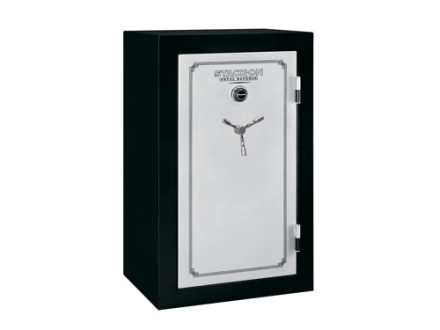 Stack-On Total Defense 36-Gun Fire-Resistant and Waterproof Safe with Combination Lock & Flex Interior Black/Silver