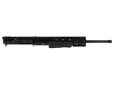"Ambush Firearms AR-15 Flat-Top Upper Assembly 6.8mm Remington SPC II 1 in 11"" Twist 18"" S2W Barrel Black Nitride Finish with MFR 12.0 Modular Rail Free Float Handguard, Shotgun Grip"
