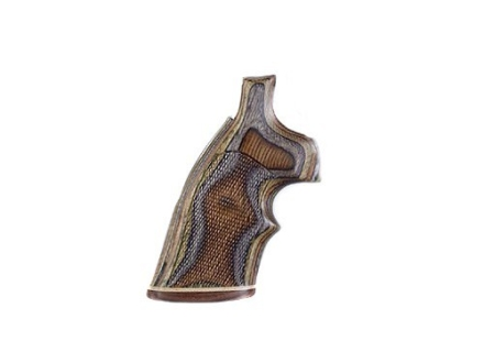 Hogue Fancy Hardwood Grips with Accent Stripe and Top Finger Groove S&W K, L-Frame Square Butt Checkered Lamo Camo