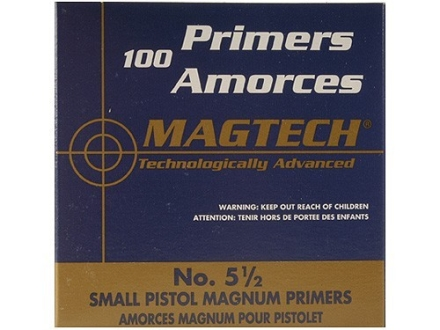 Magtech Small Pistol Magnum Primers #5-1/2 Box of 1000 (10 Trays of 100)