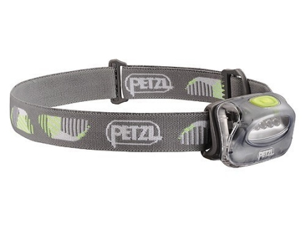 Petzl Tikka 2 Headlamp 4 White LEDs with Batteries (3 AAA Alkaline) Polymer Storm Gray