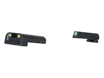 TRUGLO TFO Sight Set Sig Sauer #8 Front #8 Rear Steel Tritium / Fiber Optic Green Front, Yellow Rear