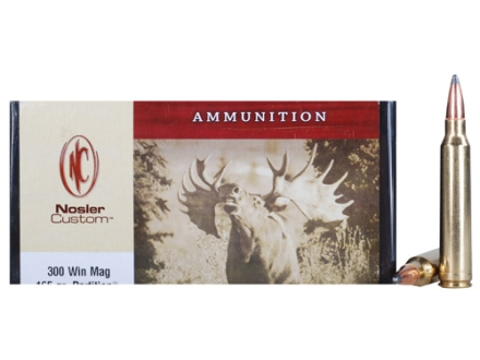 Nosler Custom Ammunition 300 Winchester Magnum 165 Grain Partition Box of 20