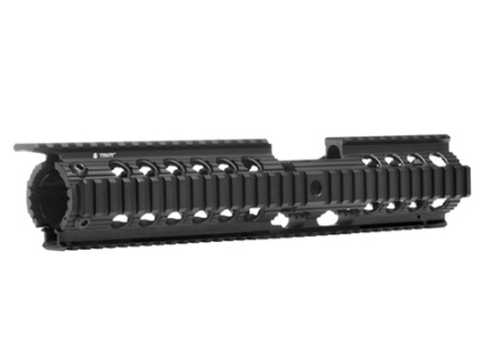 "Troy Industries 12"" Charlie Battle Rail 2-Piece Free Float Quad Rail Handguard AR-15 Black"