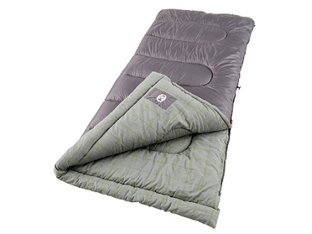 "Coleman Lassen 20-40 Degree Sleeping Bag 33"" x 75"" Polyester Purple and Gray"
