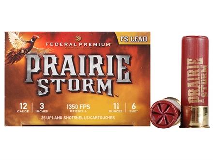 "Federal Premium Prairie Storm Ammunition 12 Gauge 3"" 1-1/4 oz #6 Plated Shot Box of 25"