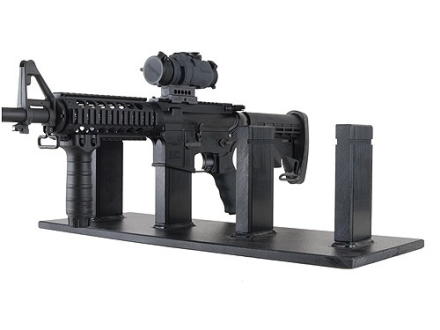 Plastix Plus AR-15 4-Gun Display Stand Plastic Black