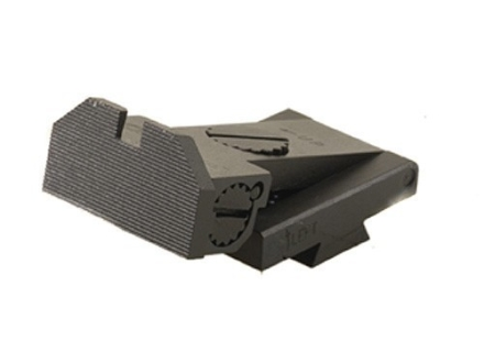 Kensight Adjustable Deep Notch Rear Sight 1911 Bo-Mar Cut Steel Black Beveled Blade Fully Serrated