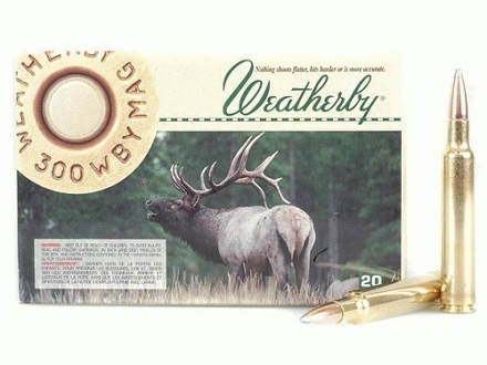 Weatherby Ammunition 300 Weatherby Magnum 180 Grain Nosler Partition Box of 20