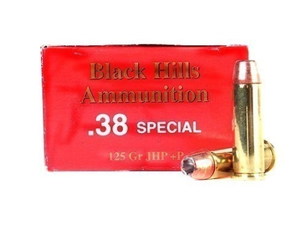Black Hills Ammunition 38 Special +P 125 Grain Jacketed Hollow Point Box of 50