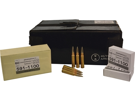 Surplus Ammunition 7.5mm Schmidt-Rubin (7.5x55mm Swiss) 174 Grain Full Metal Jacket GP 11 Case of 480 (48 Boxes of 10)