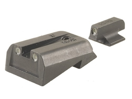 TRUGLO Brite-Site Tritium Sight Set 1911 Kimber Front and Rear Sight Cuts Steel Tritium Green