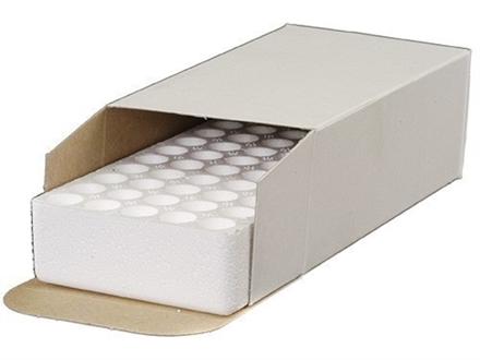 MidwayUSA CB-08 Ammo Box with Styrofoam Tray 40 S&W, 10mm Auto, 45 ACP 50-Round Cardboard White