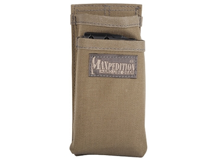 Maxpedition Hook-&-Loop Fastener Modular Insert for AR-15, M4, M16 Magazine Pouch Holds 2 Magazine Nylon Khaki Foliage