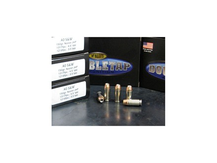 Doubletap Ammunition 40 S&W 150 Grain Nosler Jacketed Hollow Point Box of 20