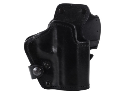 Front Line LKC 3-Layer Belt Holster Right Hand HK USP 9/40 Suede Lined Leather and Kydex Black