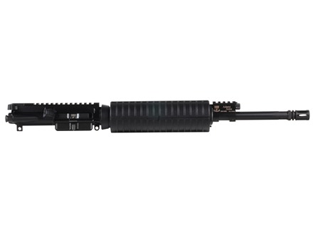 "Adams Arms AR-15 A3 Base Mid Length Gas Piston Upper Assembly 5.56x45mm NATO 1 in 7"" Twist 16"" Barrel Melonite Finish with M4 Handguard, Flash Hider"