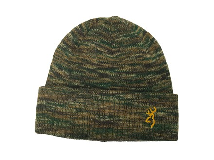 Browning Full Curl Windkill Beanie Wool Blend All-Terrain Camo