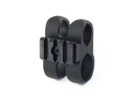 Nordic Components Shotgun Magazine Extension Tube Barrel Clamp with Picatinny Tac Rail 12 Gauge Aluminum Matte