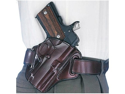 Galco Concealable Belt Holster Right Hand 1911 Commander Leather Brown