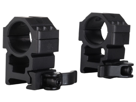 "Leapers UTG 1"" Max Strength Tactical 6-Hole Quick Detachable Picatinny-Style Rings Matte High"
