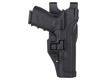 BlackHawk Level 3 Serpa Auto Lock Duty Holster Right Hand Glock 17, 19, 22, 23, 31, 32 Polymer Black