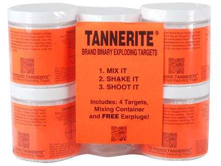 Tannerite Exploding Rifle Target 1/2 lb Jar Package of 4