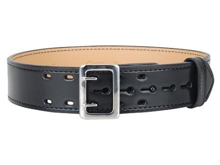 """Gould & Goodrich B49FL4 E-Z Slide Duty Belt 2-1/4"""" Nickel Plated Brass Buckle Leather"""