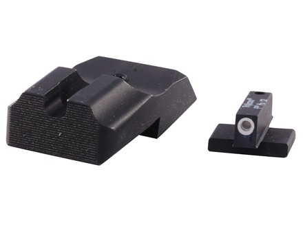 Warren Tactical Night Sight Set 1911 Novak Cut Plain Tactical Rear, 1-Dot Tritium Front Steel Matte