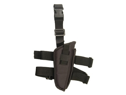 "Hunter Tactical Thigh Holster Medium through Large Frame Semi-Auto Pistols 4"" Barrel Nylon Black"