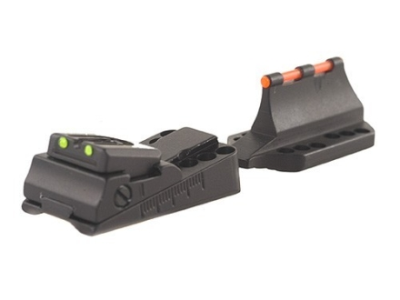 "Williams Fire Sight Set Universal Vent Rib ""Slugger"" Shotgun Aluminum Black Fiber Optic Green"