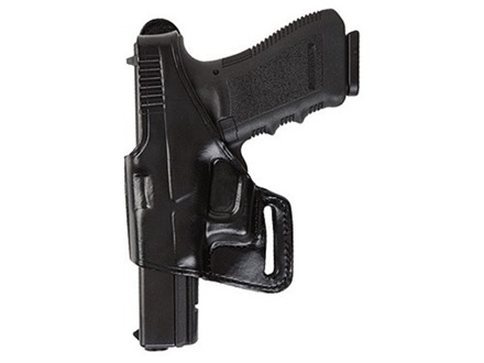 Bianchi 75 Venom Belt Holster Left Hand Glock 17, 19, 22, 23, 26, 27, 34, 35 Leather Black