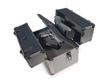 "ADG Pistol Range Box with Spotting Scope Mount 15-1/2"" x 9-1/2"" x 13-1/4"" Aluminum Gray"
