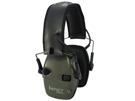 Howard Leight Impact Sport Electronic Earmuffs (NRR 22 dB) Green