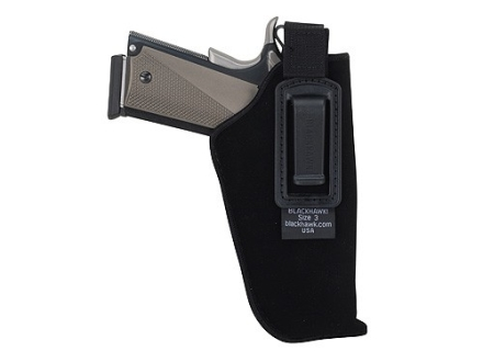 "BlackHawk Inside the Waistband Holster with Retention Strap Large Frame Semi-Automatic 3-.75"" to 4.5"" Barrel Ultra-Thin 4-Layer Laminate Black"